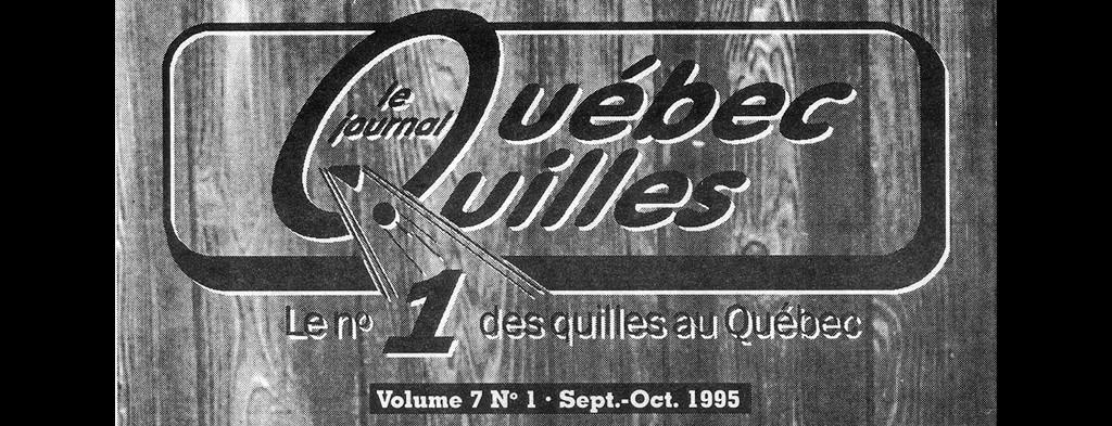 Logo Journal Quebec Quilles Sept Oct 1995 Une